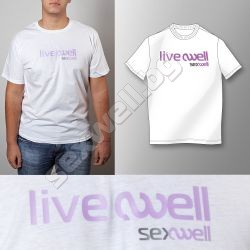 White t-shirt live well XL for men